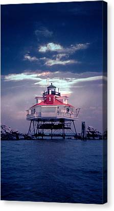 Thomas Point Shoal Lighthouse Canvas Print by Skip Willits