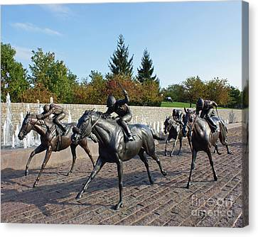 Thoroughbred Park Canvas Print by Roger Potts