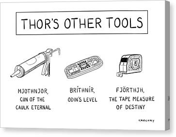 Thor's Other Tools -- Various Carpentry Tools Canvas Print by Alex Gregory