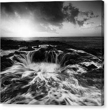 Thors Well Oregon Monochrome Canvas Print by Bob Christopher