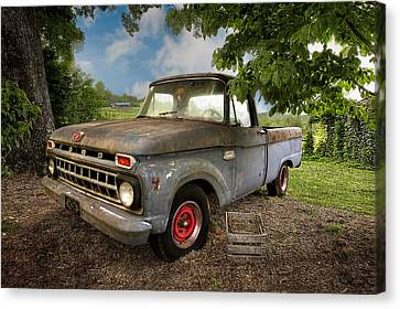 Those Were The Days Canvas Print by Debra and Dave Vanderlaan