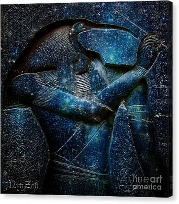 Thoth Canvas Print by Mynzah Osiris
