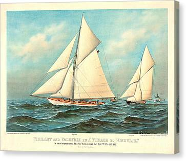 Thrash To Windward 1893 Canvas Print by Padre Art