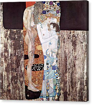 Three Ages Of Woman Canvas Print by Gustive Klimt