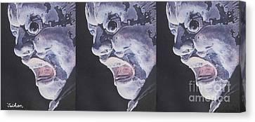Three Asuras By Taikan Canvas Print by Taikan Nishimoto