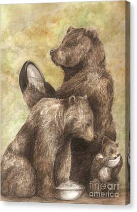 Three Bears Canvas Print by Meagan  Visser
