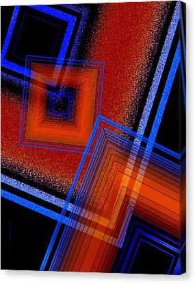 Three Colors And Lines Canvas Print by Mario Perez