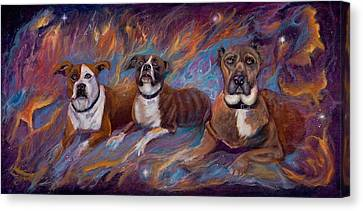 If Dogs Go To Heaven Canvas Print by Sherry Strong