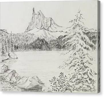 Three-fingered Jack Above Marion Lake Canvas Print by Jean Moule