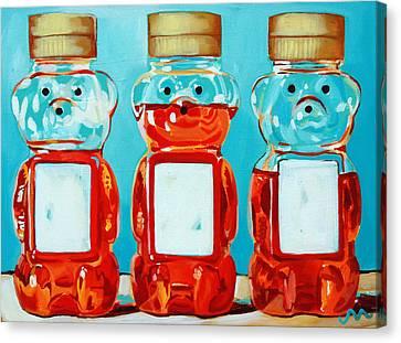 Three Little Bears Canvas Print by Jayne Morgan