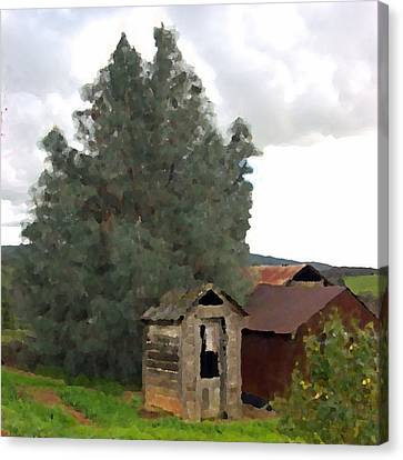 Three Old Sheds Canvas Print by Charlette Miller