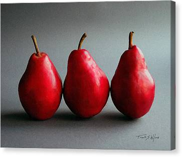 Three Red Pears Canvas Print by Frank Wilson
