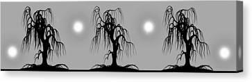 Three Trees Canvas Print by Bob Orsillo