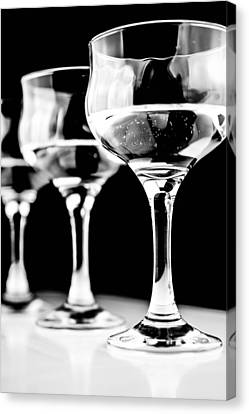Three Wine Glass In  Canvas Print by Toppart Sweden