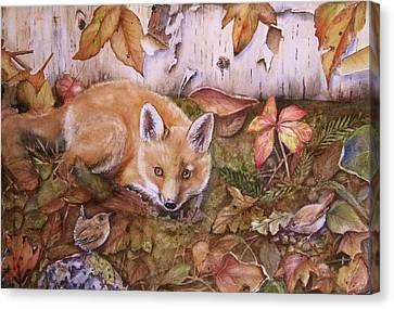 Three's A Crowd Canvas Print by Patricia Pushaw
