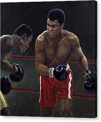 Thrilla In Manilla Canvas Print by Gregory Perillo