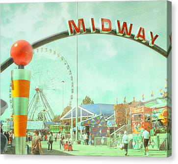 Thrills Of The Midway Canvas Print by David and Carol Kelly