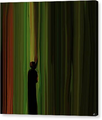 Through The Curtain Canvas Print by John Hesley