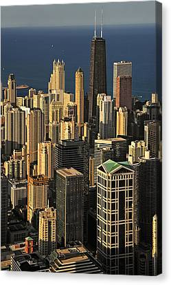 Through The Haze Chicago Shines Canvas Print by Christine Till
