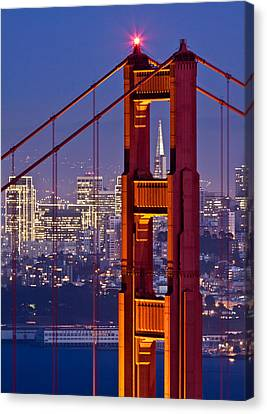 San Francisco Through The Letterbox Canvas Print by Alexis Birkill