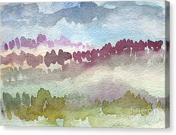 Through The Trees Canvas Print by Linda Woods