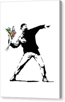 Throwing Love Canvas Print by Munir Alawi