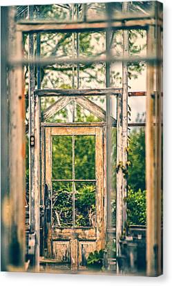 Thru Times Window Canvas Print by Karol Livote