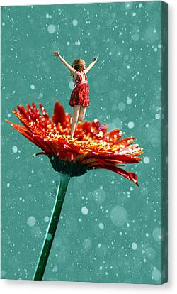 Thumbelina All Grown Up Canvas Print by Nikki Marie Smith