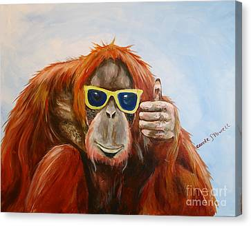 Thumbs Up Canvas Print by Carole Powell