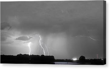 Thunder Rolls And The Lightnin Strikes Bwsc Canvas Print by James BO  Insogna
