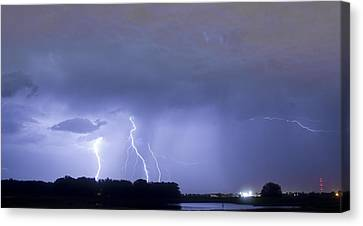 Thunder Rolls And The Lightnin Strikes  Canvas Print by James BO  Insogna