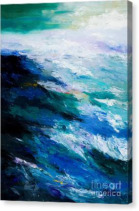 Thunder Tide Canvas Print by Larry Martin