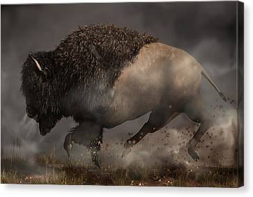 Thunderbeast Canvas Print by Daniel Eskridge