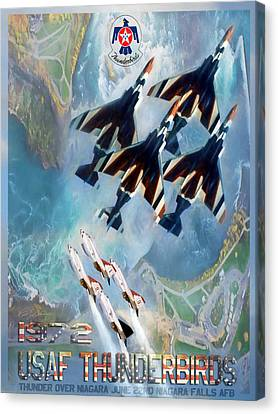Thunderbirds Poster  Canvas Print by Peter Chilelli