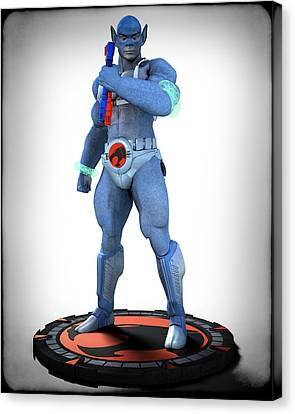 Thundercats - 3000 - Panthro V1 Canvas Print by Frederico Borges