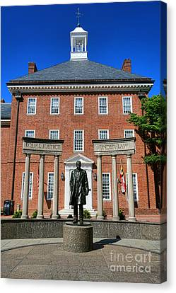 Thurgood Marshall Memorial Canvas Print by Olivier Le Queinec