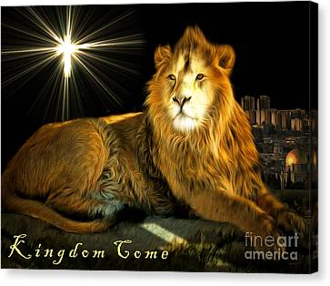 Thy Kingdom Come 201502113brun With Text Canvas Print by Wingsdomain Art and Photography