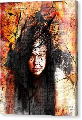 Thy Sins Like Scarlet Canvas Print by Gary Bodnar