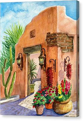 Tia Rosa Time Canvas Print by Marilyn Smith