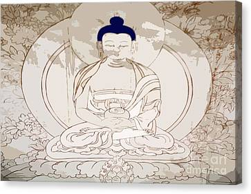 Tibet Buddha Canvas Print by Kate McKenna
