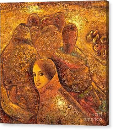 Tibet Golden Times Canvas Print by Shijun Munns