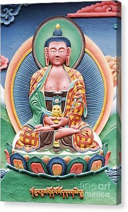 Tibetan Buddhist Deity Sculpture Canvas Print by Tim Gainey