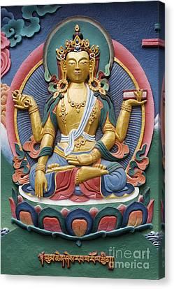 Tibetan Buddhist Deity Canvas Print by Tim Gainey
