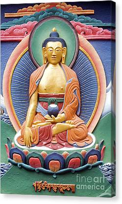 Tibetan Buddhist Deity Wall Sculpture Canvas Print by Tim Gainey