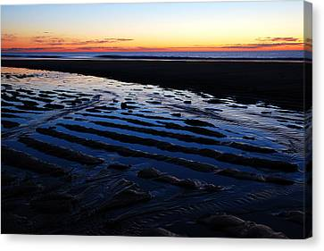 Tidal Ripples At Sunrise Canvas Print by James Kirkikis
