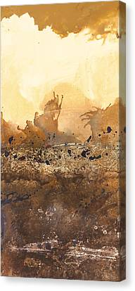 Tidal Sunrise Panel 3 Canvas Print by Craig Tinder