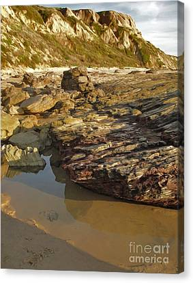 Tide Pools - 01 Canvas Print by Gregory Dyer