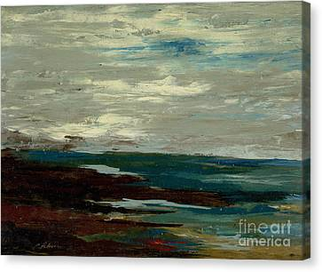 Tide Pools At The Rincon Seashore  Canvas Print by Cathy Peterson