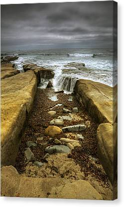Tidepool Falls Canvas Print by Peter Tellone