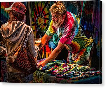 Tie Dye Guy Canvas Print by Bob Orsillo